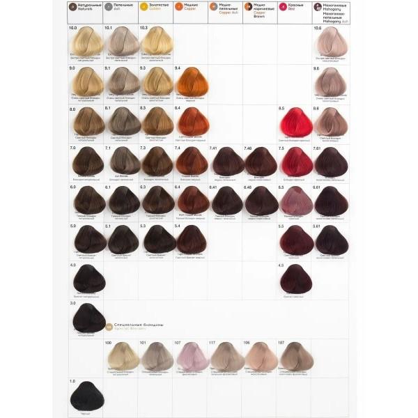 Kapous Professional S 7.1 пепельный блонд, крем-краска для волос с экстрактом женьшеня и рисовыми протеинами Studio, 100 мл